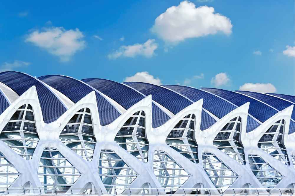 architectural design architecture building clouds